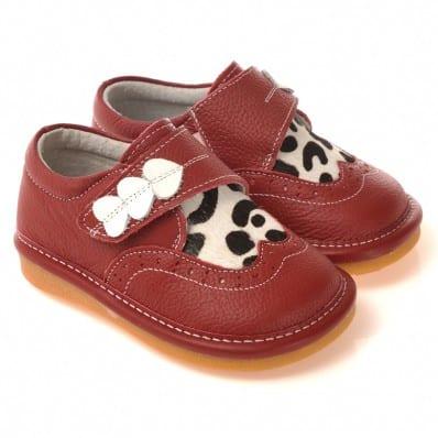 Chaussures semelle souple Babies 3 coeurs et vache