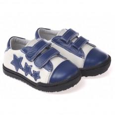 Little Blue Lamb - Zapatos de suela de goma blanda niños   Zapatillas de deporte blancas 3 estrellas