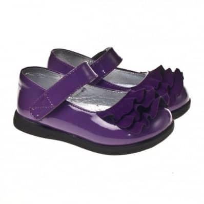 Little Blue Lamb - Zapatos de suela de goma blanda niñas | Morado brillante