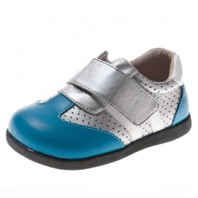 Little Blue Lamb - Krabbelschuhe Babyschuhe Leder - Jungen   Silber Blau sneakers