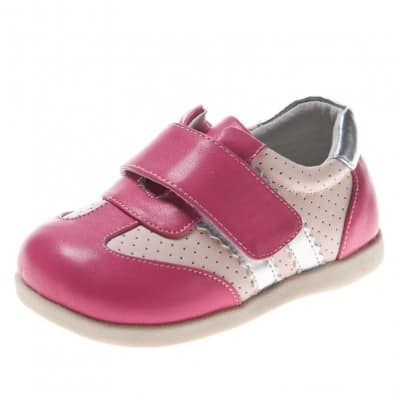 Little Blue Lamb - Chaussures semelle souple | Baskets argentée rose