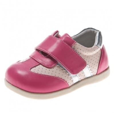 Little Blue Lamb - Krabbelschuhe Babyschuhe Leder - Mädchen | Silber pink sneakers
