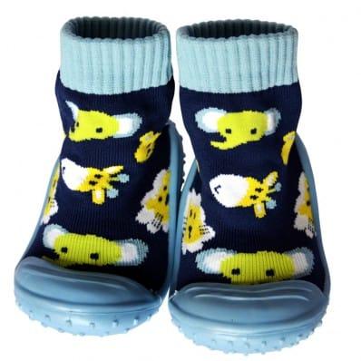 Chaussons-chaussettes enfant antidérapants semelle souple | Jungle C2BB - chaussons, chaussures, chaussettes pour bébé