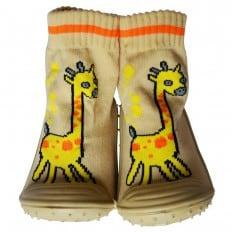 Chaussons-chaussettes enfant antidérapants semelle souple | Girafe