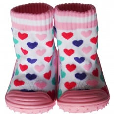 Hausschuhe - Socken Baby Kind geschmeidige Schuhsohle Mädchen | Herzen