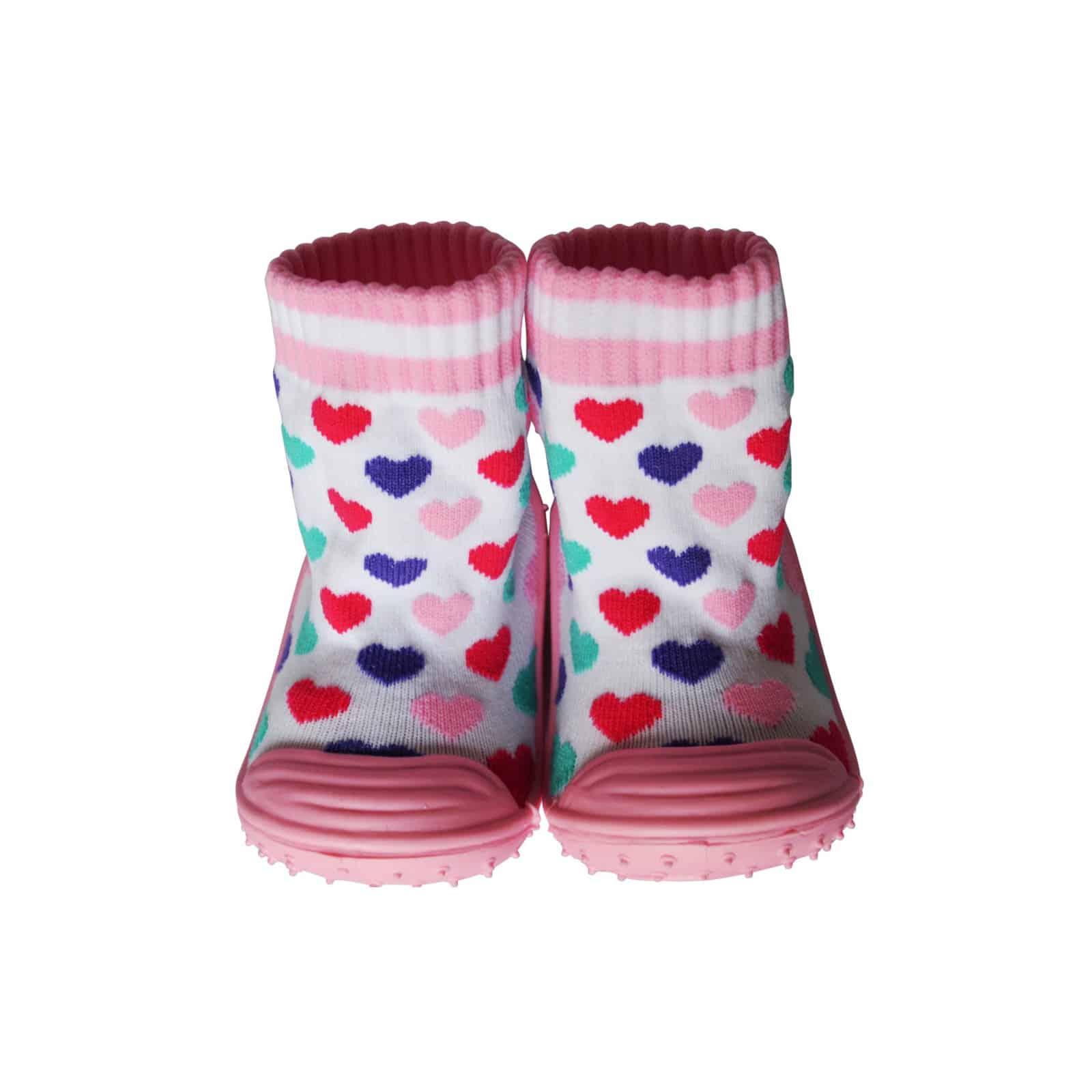 e319af78fdd0e Chaussons-chaussettes antidérapants COEURS