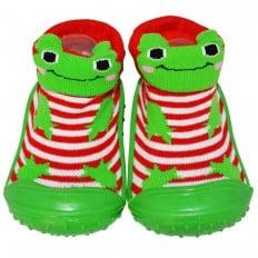 Chaussons-chaussettes enfant antidérapants semelle souple | Grenouille