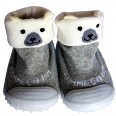 Hausschuhe - Socken Baby Kind geschmeidige Schuhsohle Mädchen Junge | Eisbär