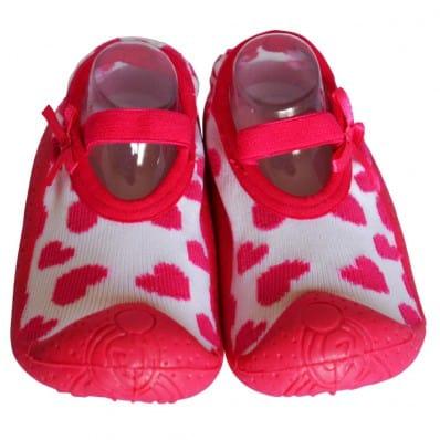 Scarpine calzini antiscivolo bambini - ragazza | Ballerine cuori