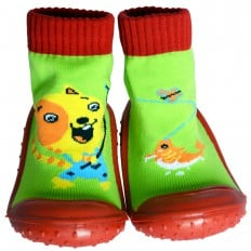 Baby boys Socks shoes with grippy rubber | Hamster fisherman