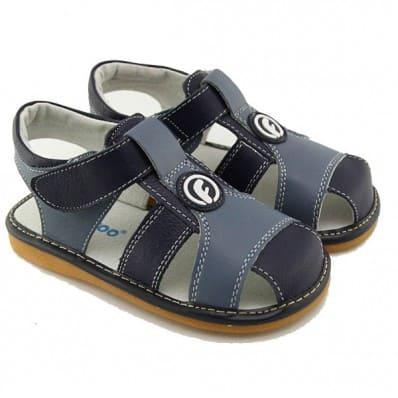 FREYCOO - Scarpine bimba primi passi con fischietto | Blu sandali
