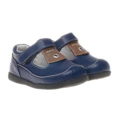 Little Blue Lamb - Zapatos de suela de goma blanda niños   Abiertas azul marino