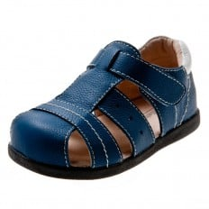 Little Blue Lamb - Krabbelschuhe Babyschuhe  Leder - Jungen | Blau sandalen