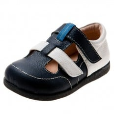 Little Blue Lamb - Soft sole boys Toddler kids baby shoes | Navy blue sandals