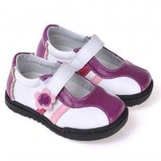 CAROCH - Scarpine suola morbida - ragazza   Sneakers viola e bianco