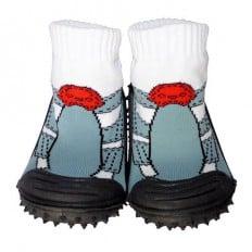 Hausschuhe - Socken Baby Kind geschmeidige Schuhsohle Junge | Graue Turnschuhe