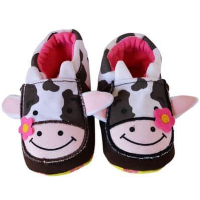 Babyschuhe baumwolle mädchen   Kuh