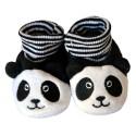Soft cotton baby girls shoes | Panda