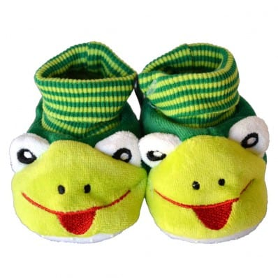 Soft cotton baby girls shoes   Frog