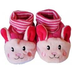 Scarpine bambini di tessuto ragazza   Coniglio rosa