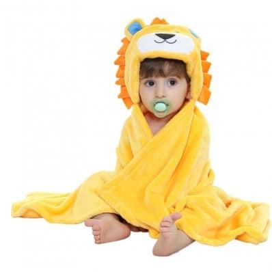 Couverture bébé polaire nouveau né et enfant fille et garçon | Lion