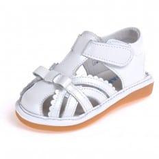 CAROCH - Chaussures à sifflet | Sandales blanches fermées