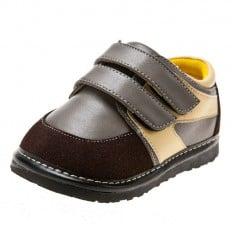 Little Blue Lamb - Zapatos de cuero chirriantes - squeaky shoes niños | Zapatillas de deporte grises y color amarillo