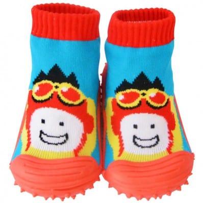 Hausschuhe - Socken Baby Kind geschmeidige Schuhsohle Junge | Flieger