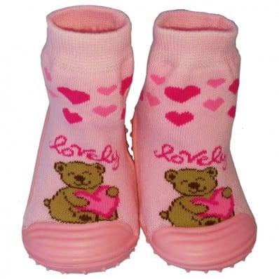 Chaussons-chaussettes enfant antidérapants semelle souple | Lovely
