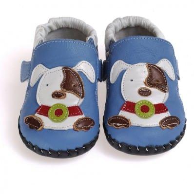 CAROCH - Zapatos de bebe primeros pasos de cuero niños | Pequeño perro