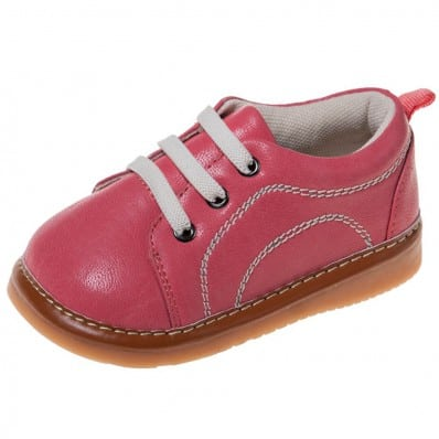 Little Blue Lamb - Chaussures à sifflet | Baskets rose foncé lacets blanc