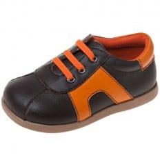Little Blue Lamb - Scarpine suola morbida - ragazzo   Arancio e marrone sneakers