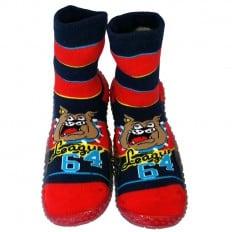 Hausschuhe - Socken Baby Kind geschmeidige Schuhsohle Junge | Bulldog
