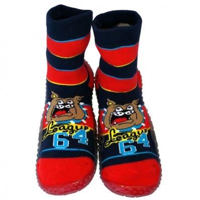 Chaussons-chaussettes enfant antidérapants semelle souple | Bulldog