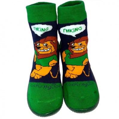 Chaussons-chaussettes enfant antidérapants semelle souple | Lion-king