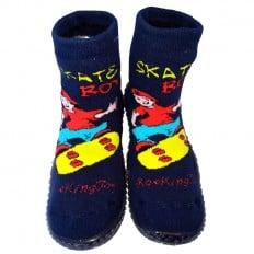Hausschuhe - Socken Baby Kind geschmeidige Schuhsohle Junge | Skate boy blau