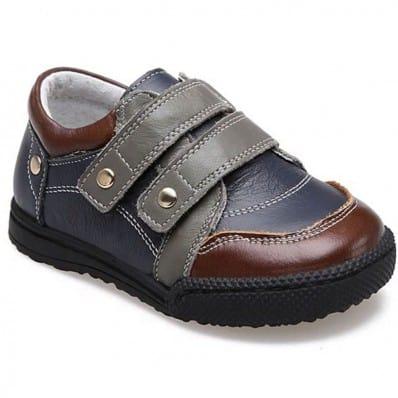 CAROCH - Chaussures semelle souple | Baskets grises et marron