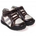 CAROCH - Chaussures semelle souple | Montantes marron et blanc