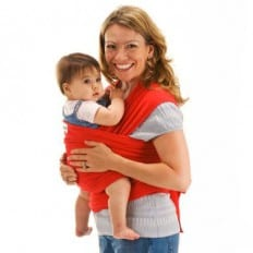 BEBEMOOI - Baby Wrap Sling Carrier Organic cotton and Elastane | Red