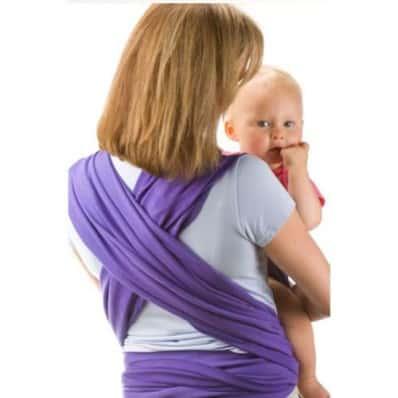 BEBEMOOI - Echarpe de portage - porte bébé coton naturel   Violet 610ea7b2957
