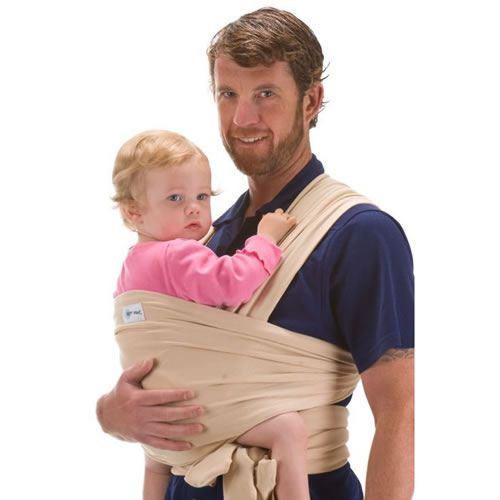 BEBEMOOIBEBEMOOI - Echarpe de portage - porte bébé coton naturel   Beige ... 3ca4081ca49