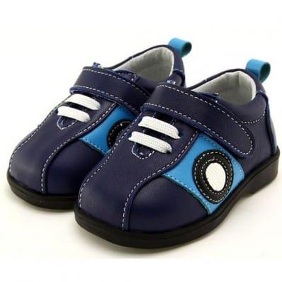 FREYCOO - Zapatos de suela de goma blanda niños | Zapatillas de deporte azules