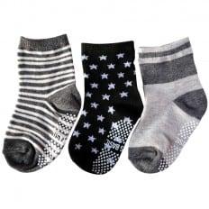 3 paia di calzini antisdrucciolo bambino di 1 a 3 anni   Ragazzo 32