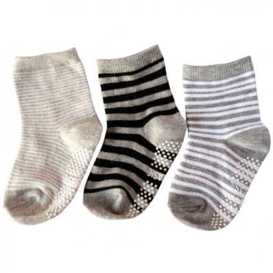 3 paires de chaussettes antidérapantes bébé enfant de 1 à 3 ans | Lot 31