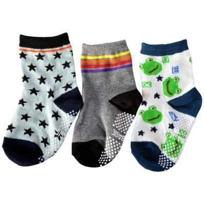 3 paires de chaussettes antidérapantes bébé enfant de 1 à 3 ans | Lot 30