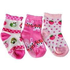 3 paires de chaussettes antidérapantes bébé enfant de 1 à 3 ans | Lot 11