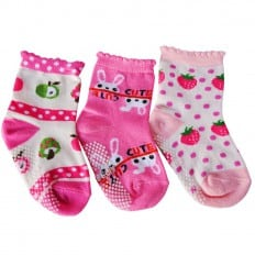 3 pairs of girls anti slip baby socks children from 1 to 3 years old | item 11