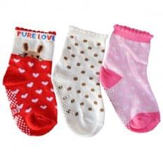 3 paia di calzini antisdrucciolo bambino di 1 a 3 anni   Ragazza 12