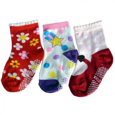3 paia di calzini antisdrucciolo bambino di 1 a 3 anni | Ragazza 14