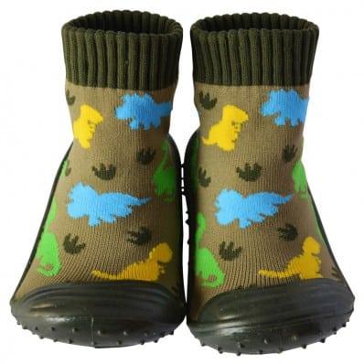 Hausschuhe - Socken Baby Kind geschmeidige Schuhsohle Junge | Dinosaurier
